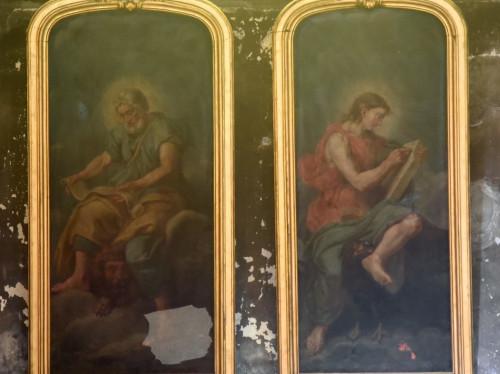 Restauration des quatre tableaux des évangélistes dans l'église Notre-Dame de Bourges