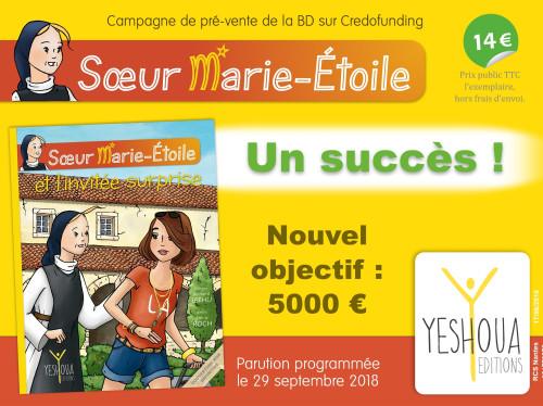 Une nouvelle BD porteuse d'un idéal élevé : Nouvel objectif à 5000 euros !