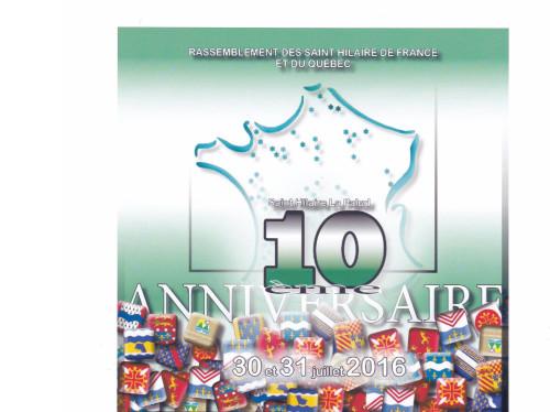 10e anniversaire des Saint Hilaire de France et du Québec