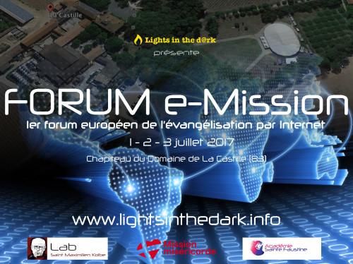 Forum e-Mission 1er Forum Européen d'Évangélisation par Internet