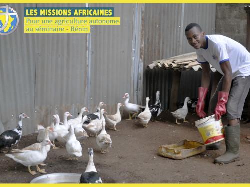 Pour une agriculture autonome au séminaire - Bénin