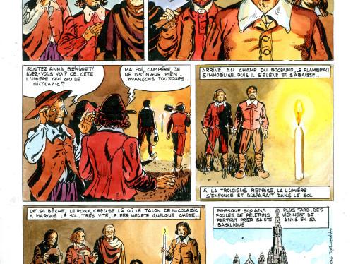 Sainte Anne en bande dessinée