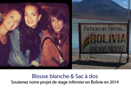 Blouse blanche & sac à dos : stage infirmier Bolivie 2014