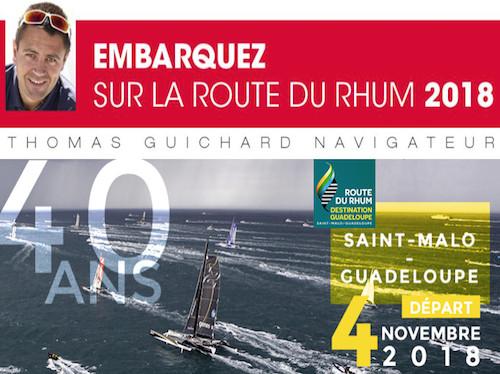 Sponsoring Route du Rhum 2018