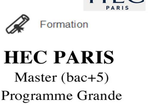 [Bilal] Master Grande École HEC Paris