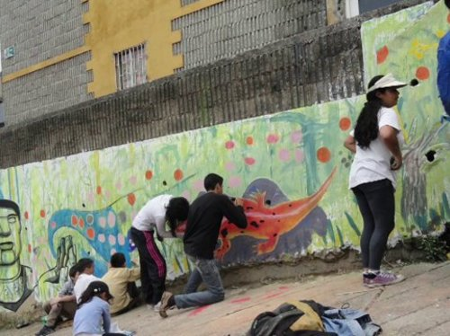 Nouvelle session d'ateliers de street art  à Bogota