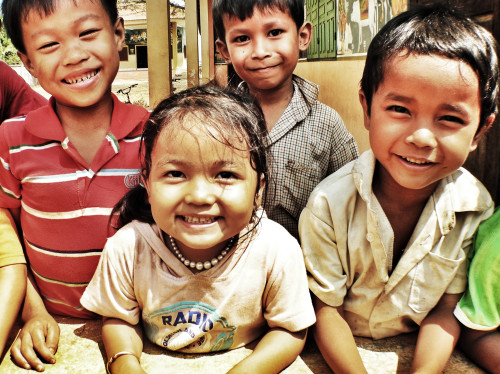 Action humanitaire au Cambodge