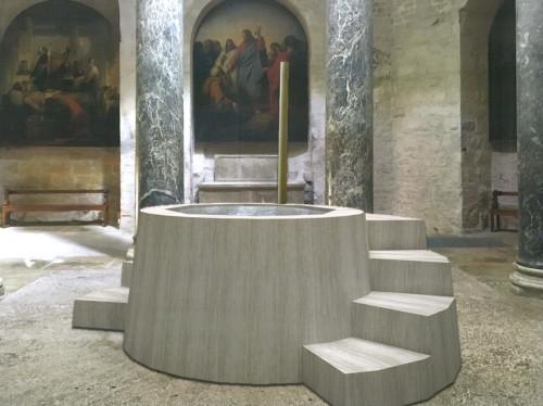 Création d'une piscine baptismale à la Cathédrale Saint-Sauveur d'Aix-en-Provence