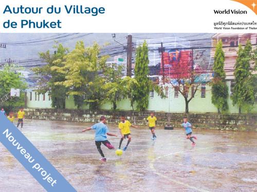 Rénovation du terrain de sport de l'école Wat Suwankeereewong , à Phuket