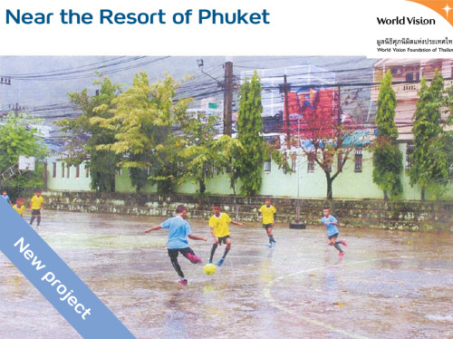 Renovation of the Wat Suwankeereewong's playground, near Phuket