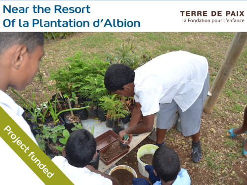 Developing the senses of children at the Albion educational garden in Mauritius