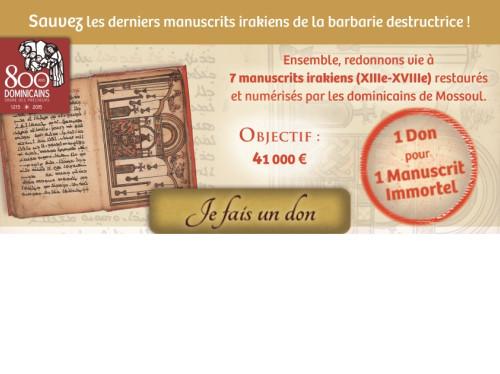 Sauvez les derniers manuscrits irakiens du couvent Dominicain de Mossoul