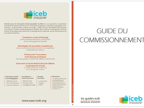 GUIDE DU COMMISSIONNEMENT