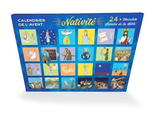 Nativité - Le calendrier de l'Avent chrétien, culturel et en chocolat