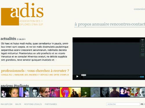Création du site internet de l'ADIS