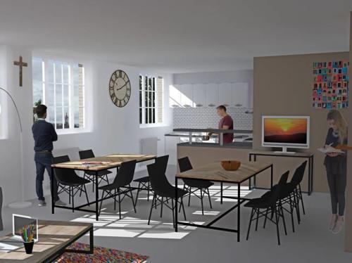 Création du foyer étudiants Pier Giorgio Frassati à Rouen