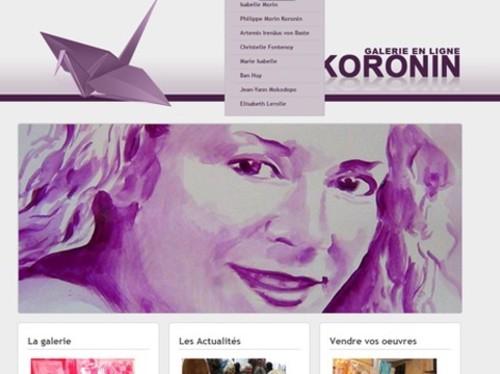 Formation et galerie d'art sur le web