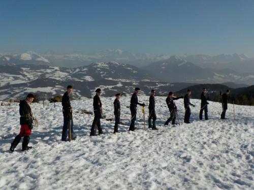 Un camp scout dans les Alpes italiennes