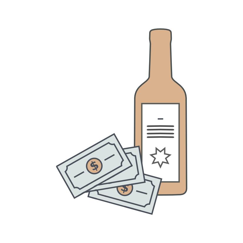 Prêt avec intérêts en vin