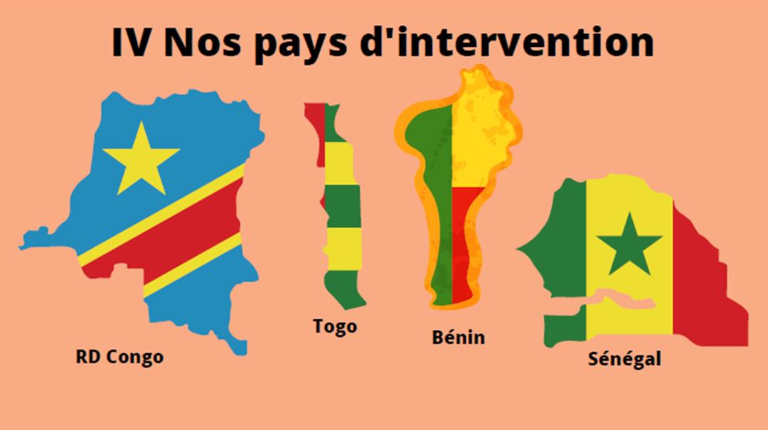 RD Congo Togo Bénin Sénégal