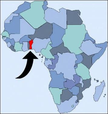 Il Benin in Africa
