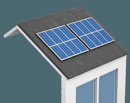Des panneaux solaires sur un toit