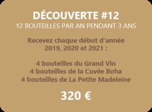 Achat 12 bouteilles de vin