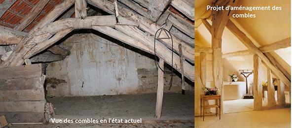 Gîte avant et après rénovation
