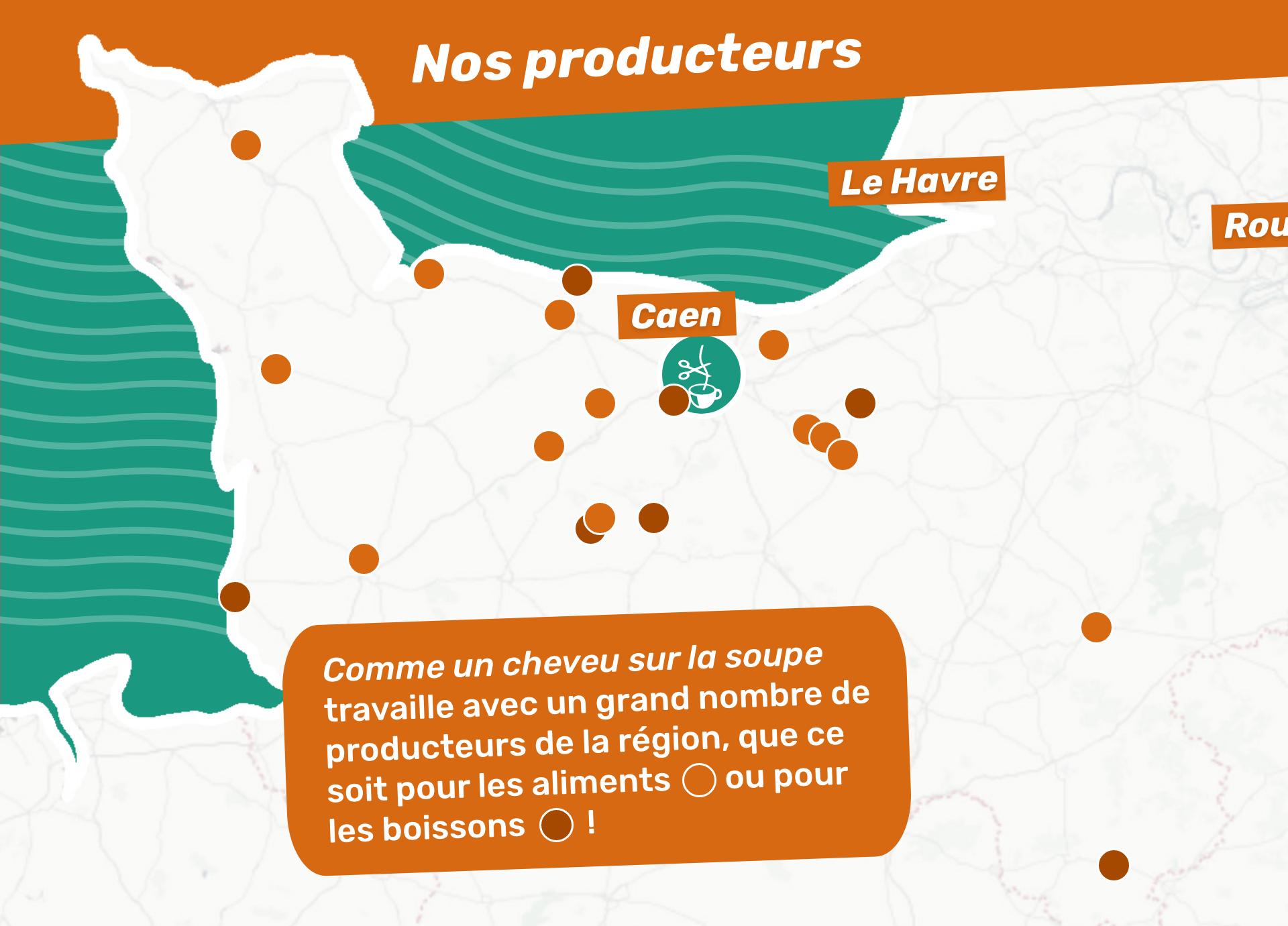 Carte de nos producteurs locaux