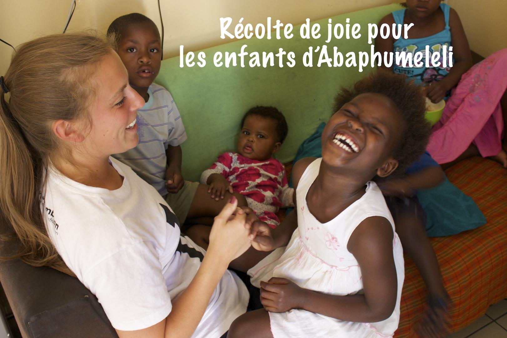 Récolte de joie pour les enfants d'Abaphumeleli