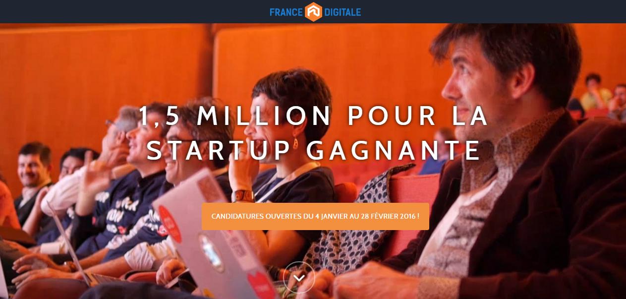 Tour de France Digitale 2016, 1,5M d'euros pour la startup gagnante