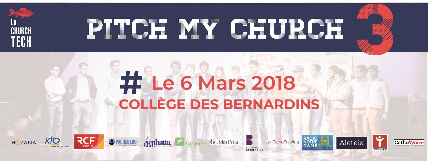 Votez pour l'un des 3 projets présentés à Pitch My Church 3 !