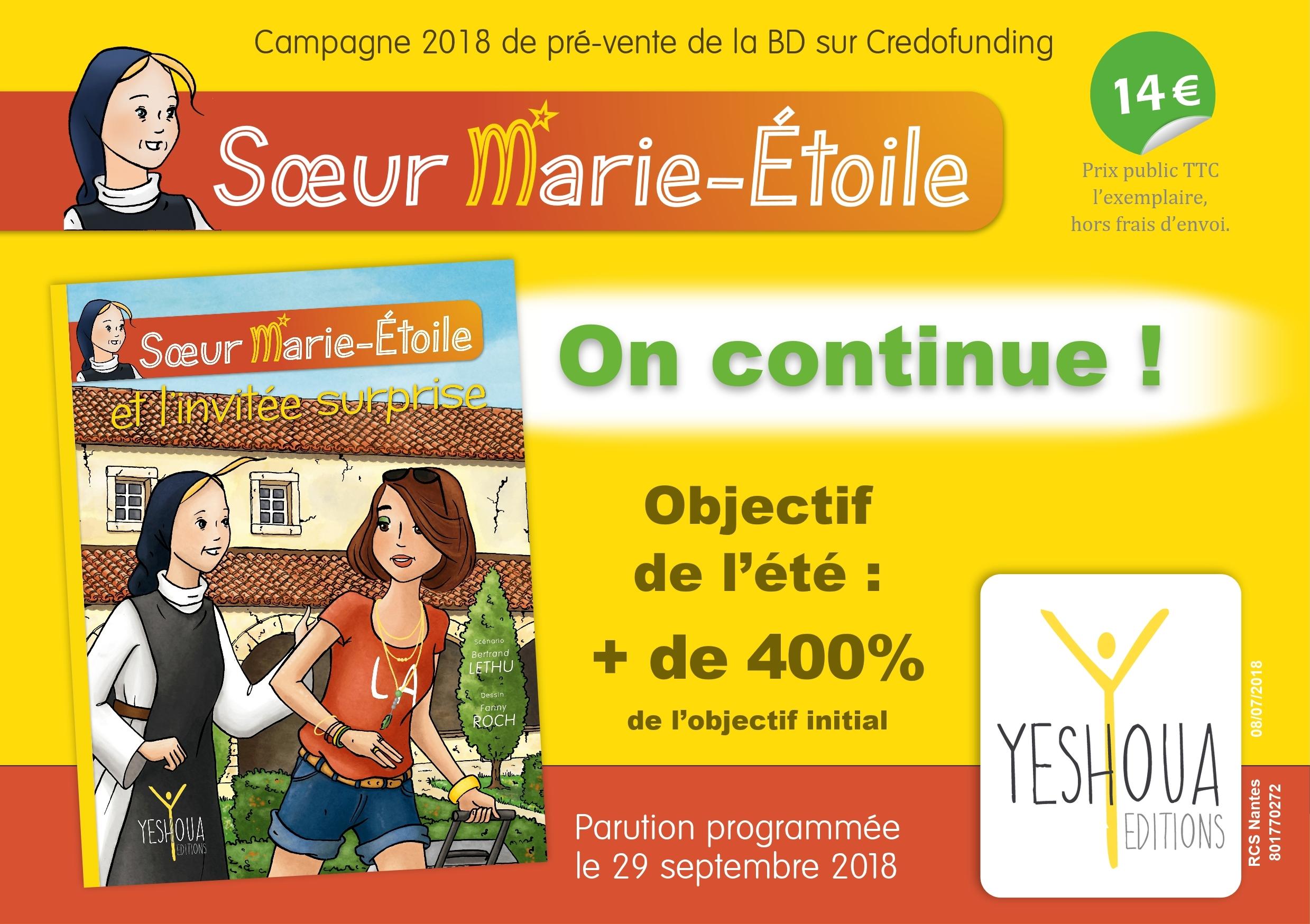 """Nouvelle BD """"Sœur Marie-Étoile"""" : la pré-vente continue tout l'été !"""
