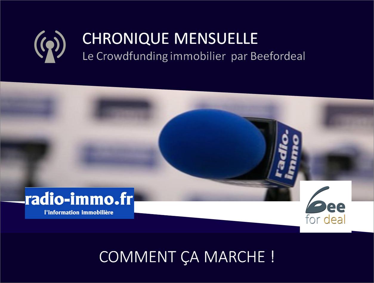 Chronique menuselle sur le Crowdfunding immobilier