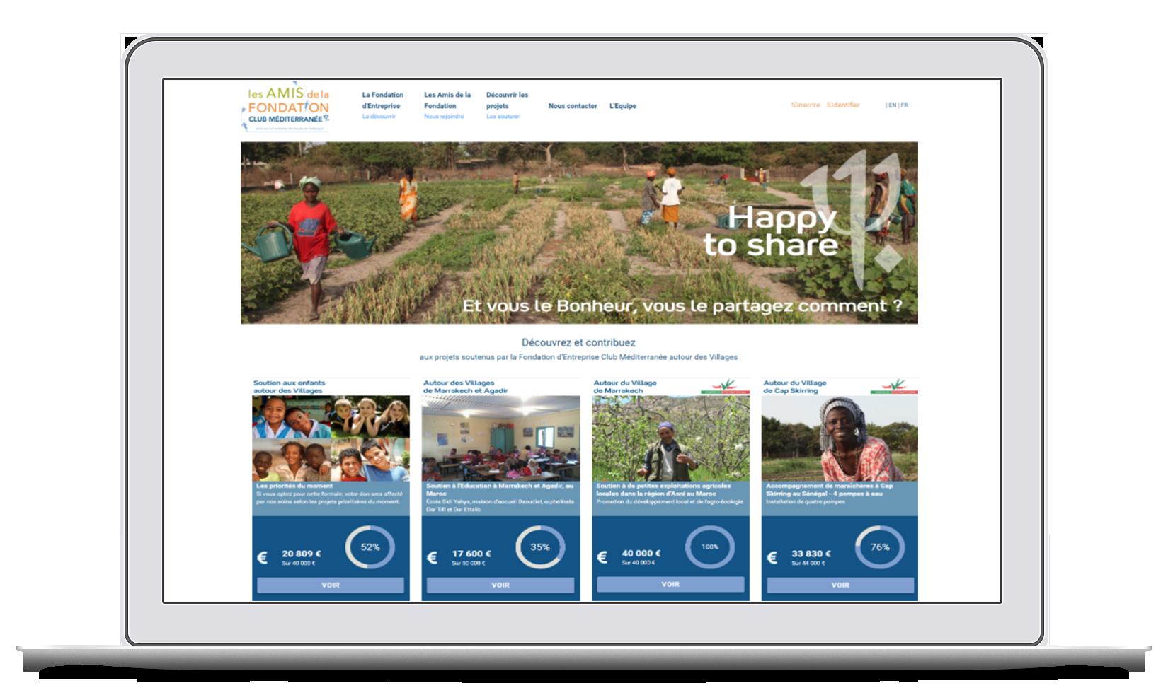 Créer une plateforme de crowdfunding pour valoriser l'engagement et la Responsabilité Sociale et Environnementale d'une entreprise au travers de sa fondation