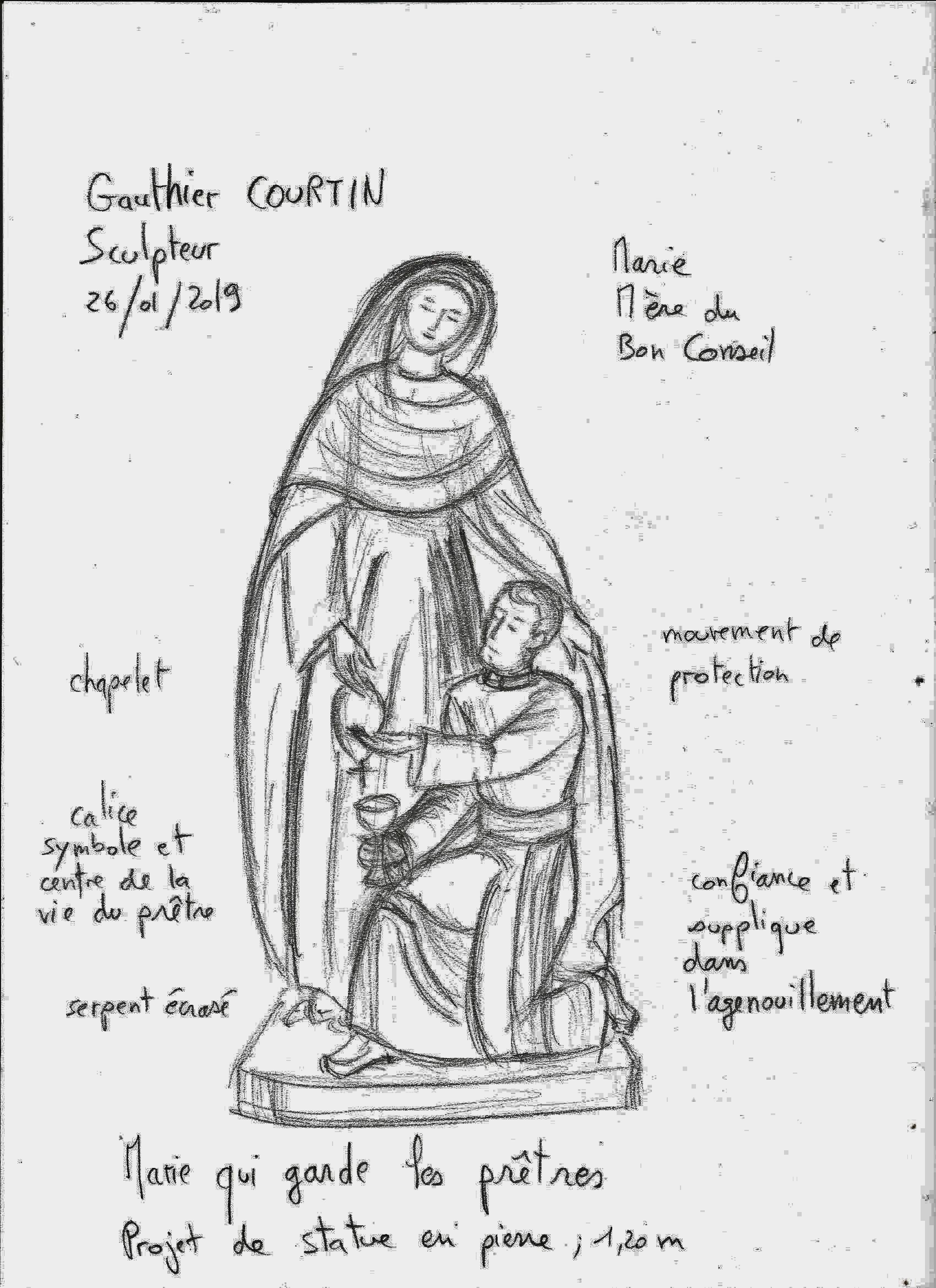"""image_thumb_Sculpture d'une statue de """"Marie qui garde les prêtres"""""""