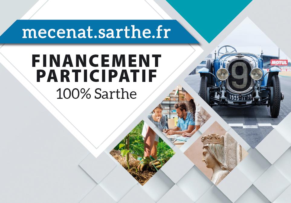 Le département La Sarthe se met au crowdfunding avec Sarthe Mécénat