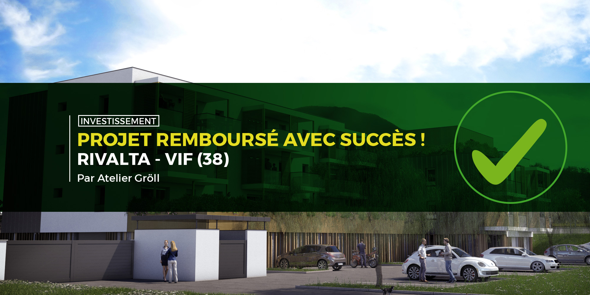 Rivalta, 11e projet immobilier remboursé avec succès par Monego !