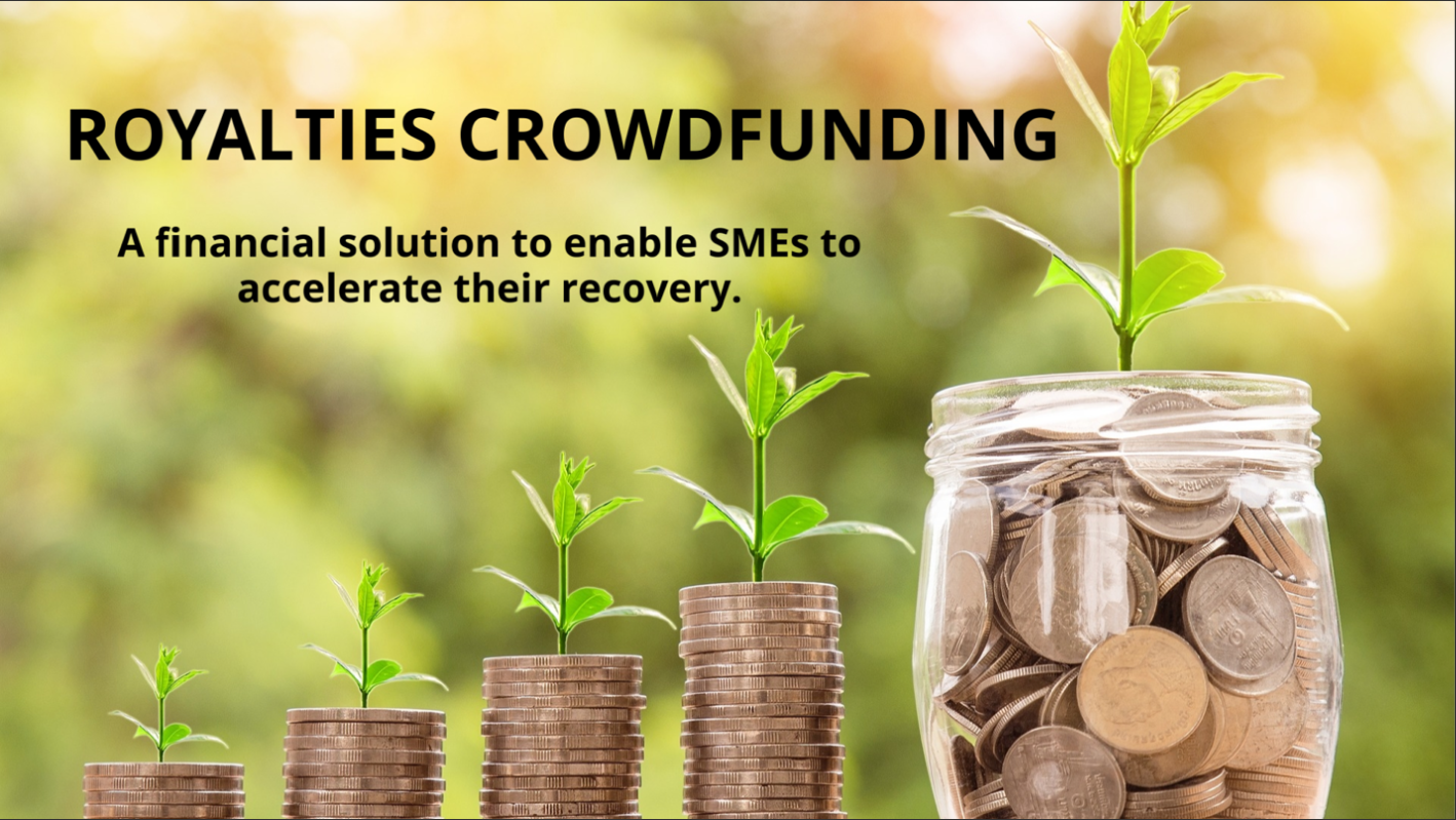 Royalties Crowfunding, a financial solution to enable SMEs to accelerate their recovery.