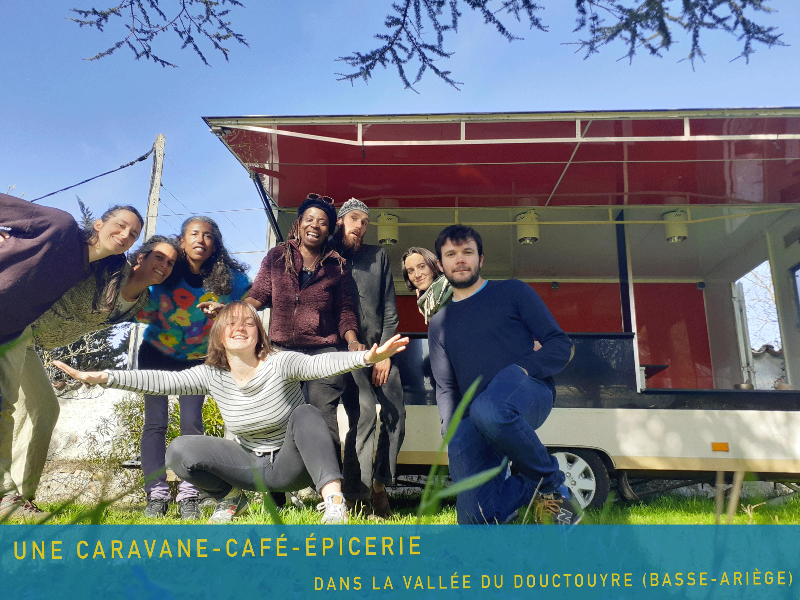Caravane-café-épicerie en Basse-Ariège