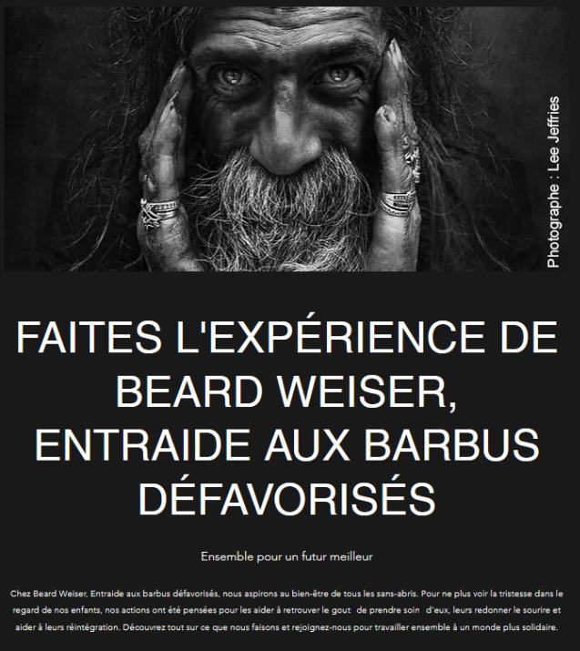 Beard Weiser, Entraide aux Barbus Défavorisés.