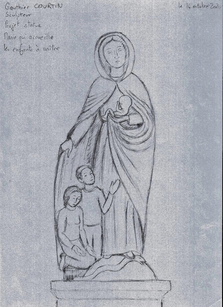 image_thumb_Statue de Marie qui protège l'enfant à naître pour le sanctuaire de Cotignac