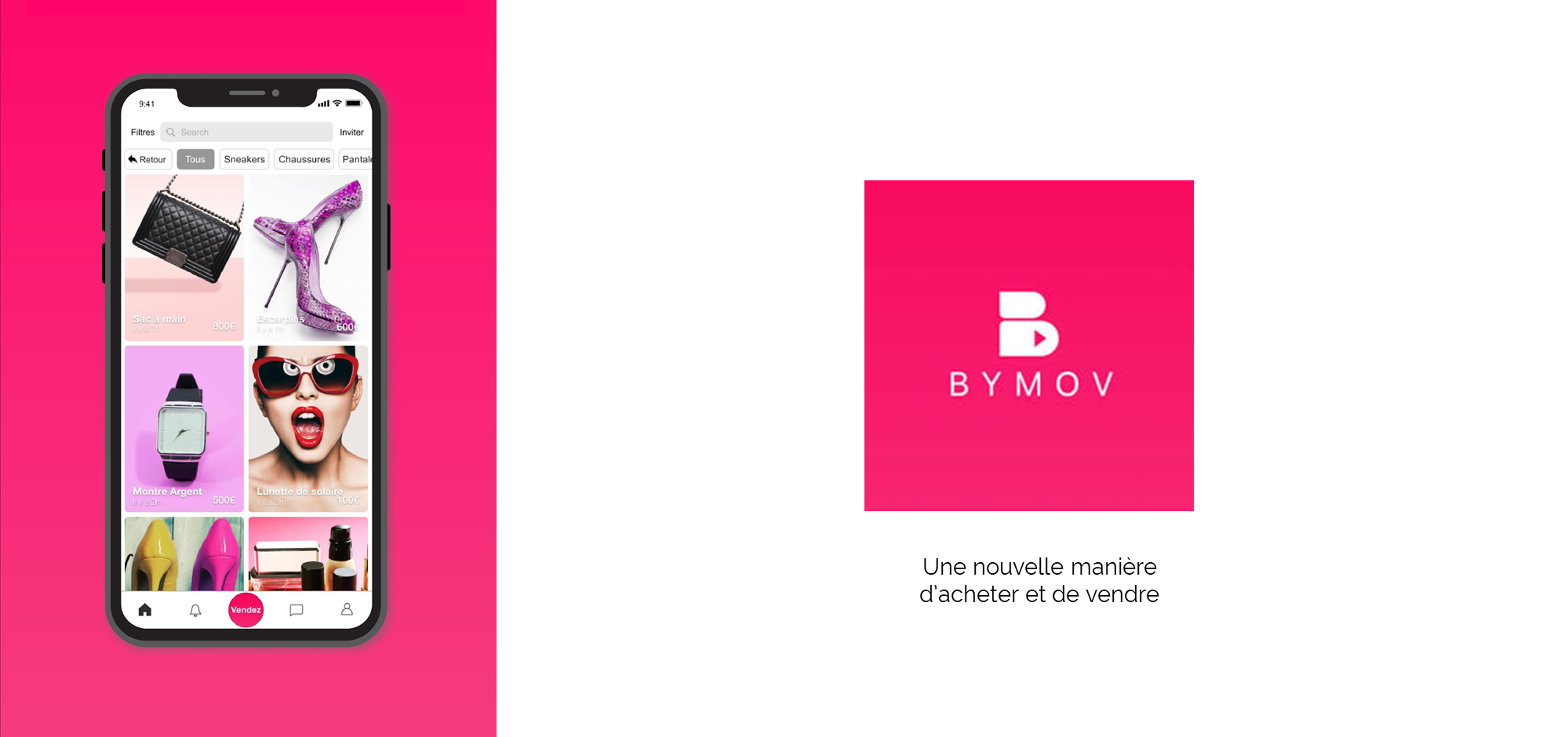 BYMOV - Marketplace 100% video de l'économie circulaire - Le YouTube de la 2nd main !