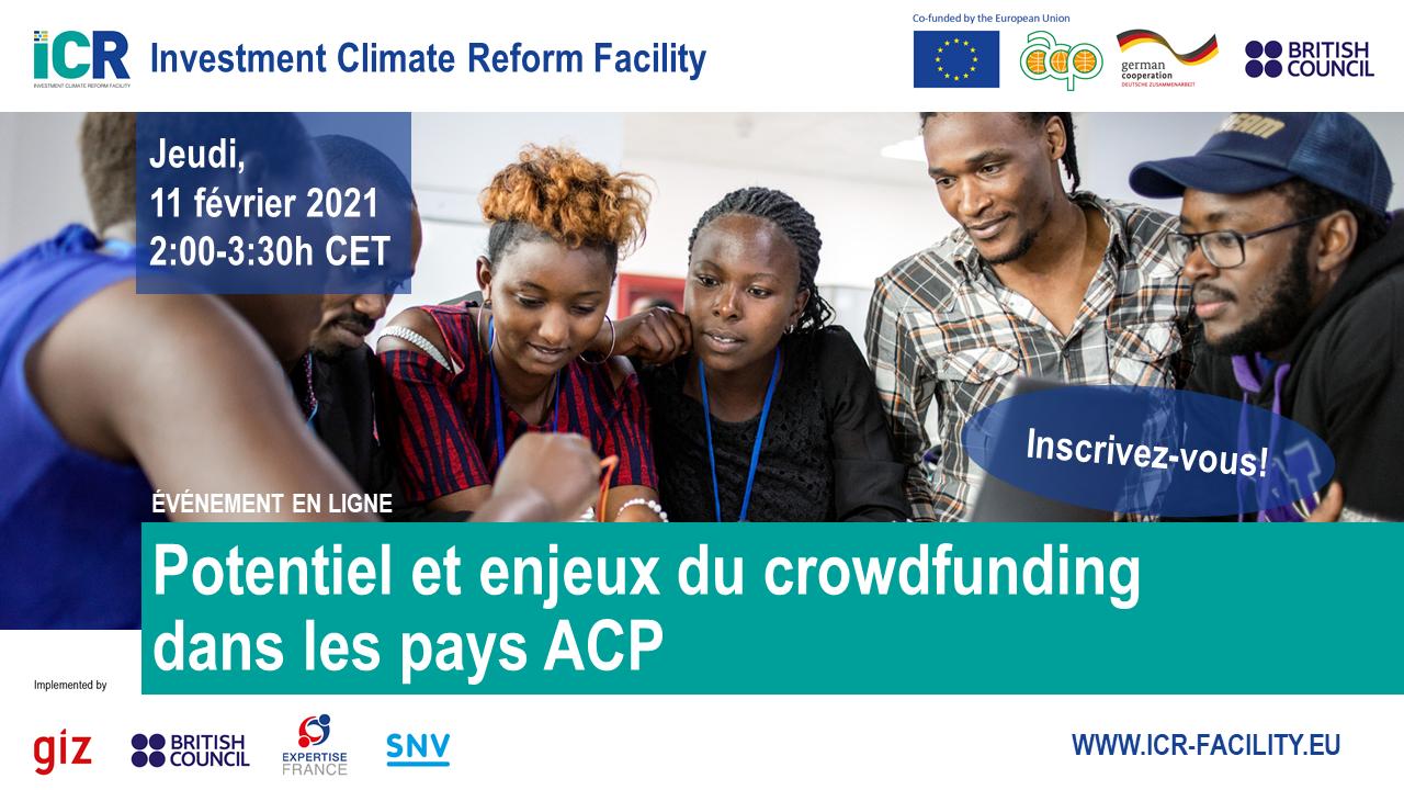 Webinaire : Potentiels et enjeux du crowdfunding dans les pays ACP