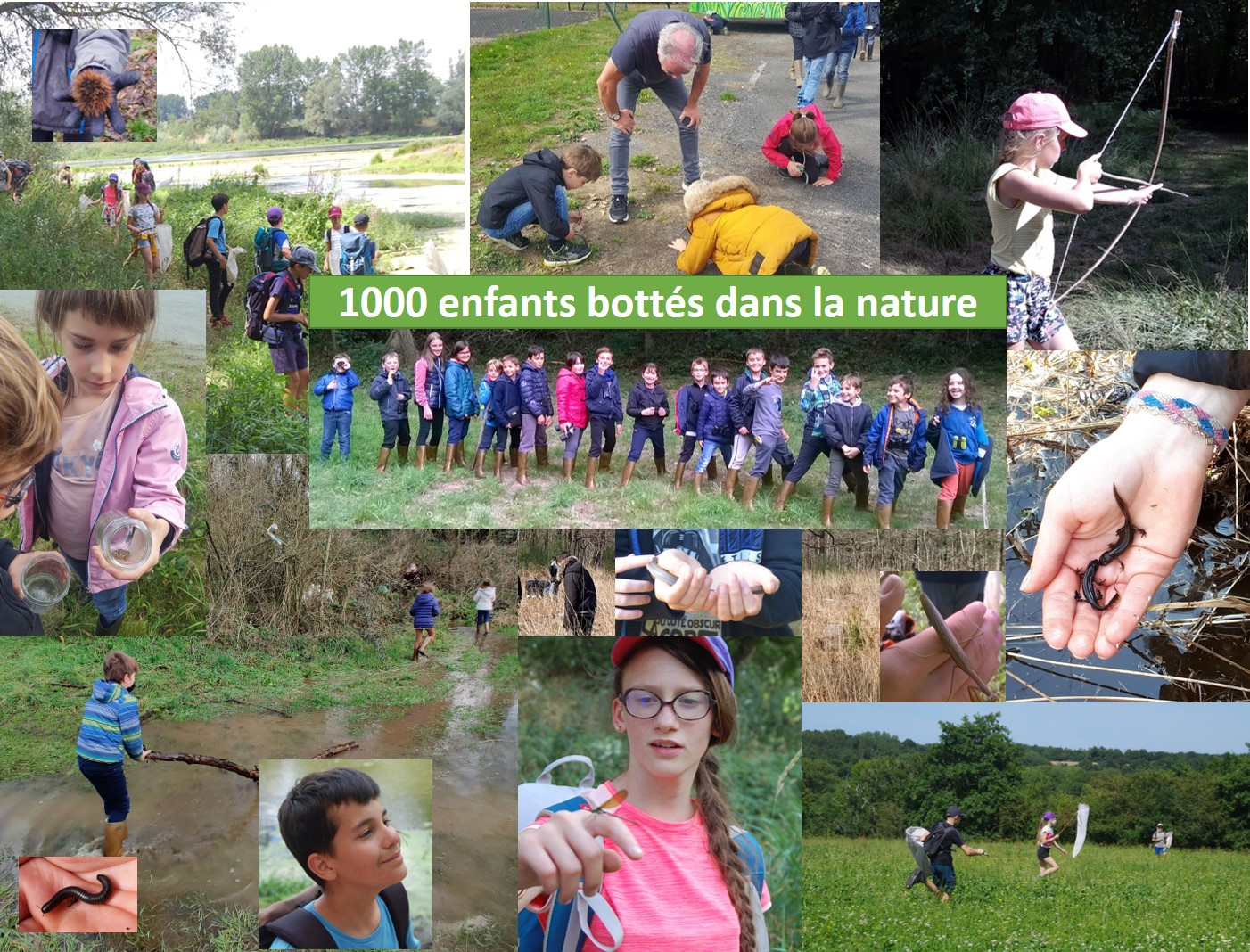 1000 enfants bottés dans la nature