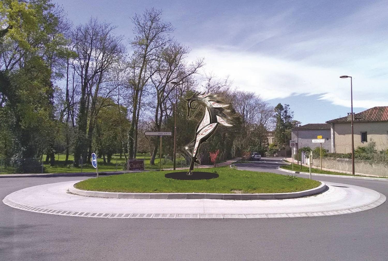 """Sculpture en """"Hommage à Saint-Vidian"""""""