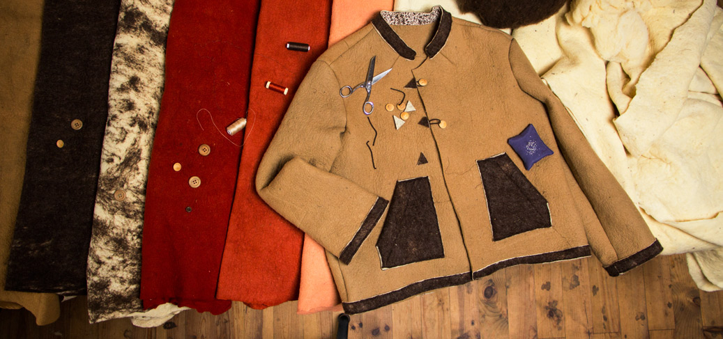 Cantilana : des vestes en laine feutrée fabriquées localement