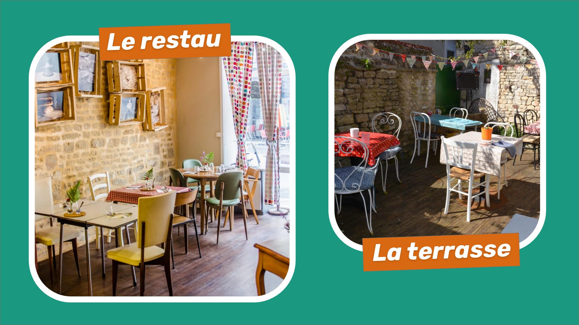 Photos du restaurant et de la terrasse