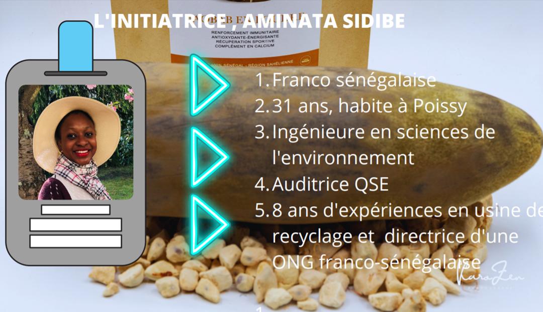 Franco sénégalaise 31 ans, habite à Poissy Ingénieure en sciences de l'environnement Auditrice QSE 8 ans d'expériences en usine de recyclage et directrice d'une ONG franco-sénégalaise
