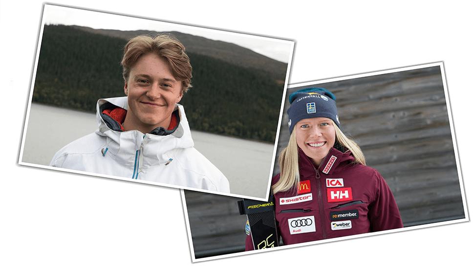 Hur blir du ett alpint proffs? Vi frågar Loke och Lisa!
